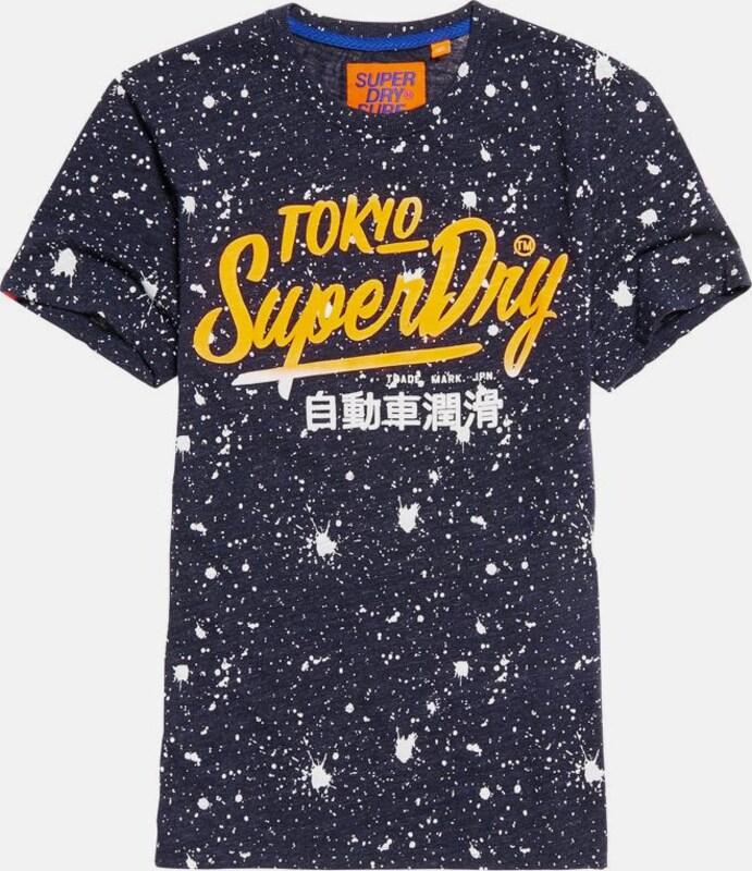 Superdry T-Shirt 'TICKET TYPE SPLATTER TEE'
