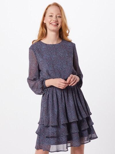 SISTERS POINT Kleid 'NICOLINE-LS4' in blau / weiß, Modelansicht