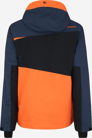 ICEPEAK Skijacke 'Carver' in navy / orange / schwarz: Rückansicht