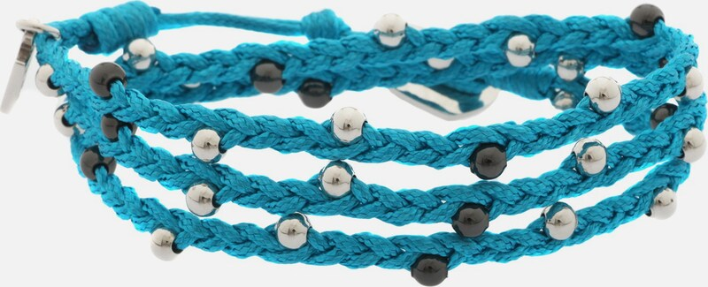 GUESS Wickelarmband Textil Türkis 'UBB12223'