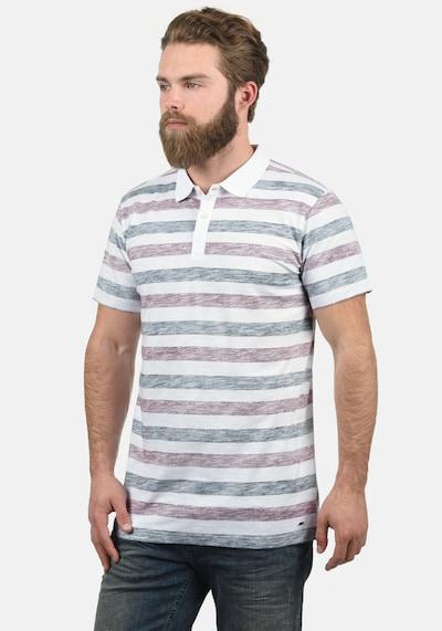 !Solid Poloshirt 'Teto' in mischfarben / rot: Frontalansicht