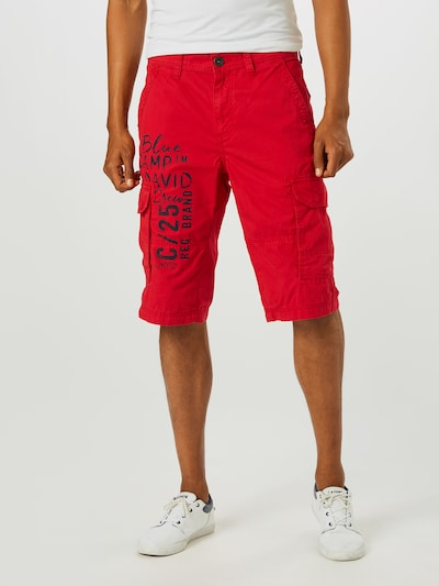 Pantaloni cu buzunare CAMP DAVID pe roșu: Privire frontală