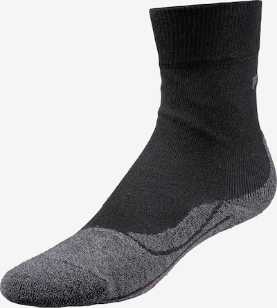 FALKE Athletic Socks in Grey / Red / Black, Item view