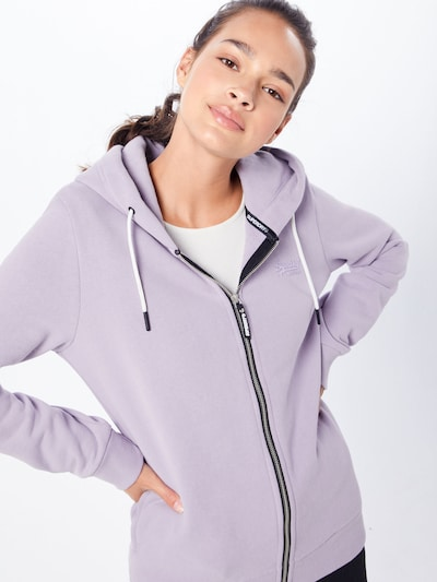 Superdry Sweatjacke 'Elite' in flieder: Frontalansicht