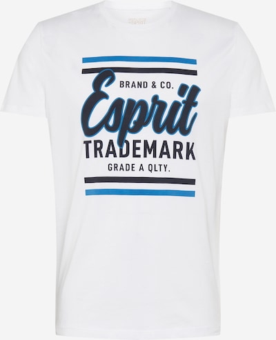ESPRIT Tričko - modrá / tmavomodrá / šedobiela: Pohľad spredu