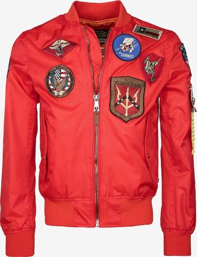 TOP GUN Between-Season Jacket ' Beast ' in Neon red, Item view