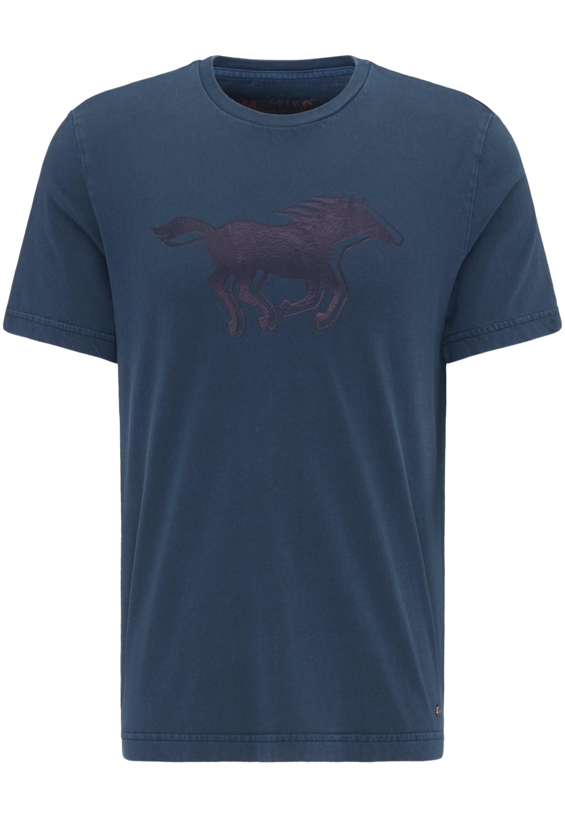 shirt 'horse Tee' Mustang In NavyDunkelblau T BoCWQxerd