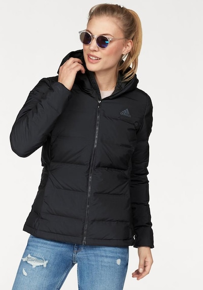 ADIDAS PERFORMANCE Outdoor Jacket 'Helionic' in Black: Frontal view