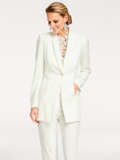 Švarkas iš heine , spalva - balta, Modelio vaizdas