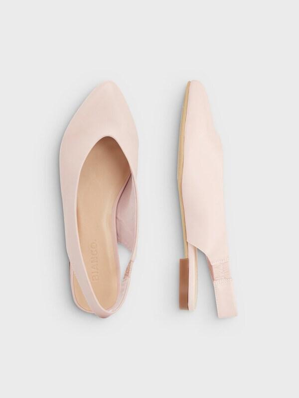 Bianco Slingback Ballerinas