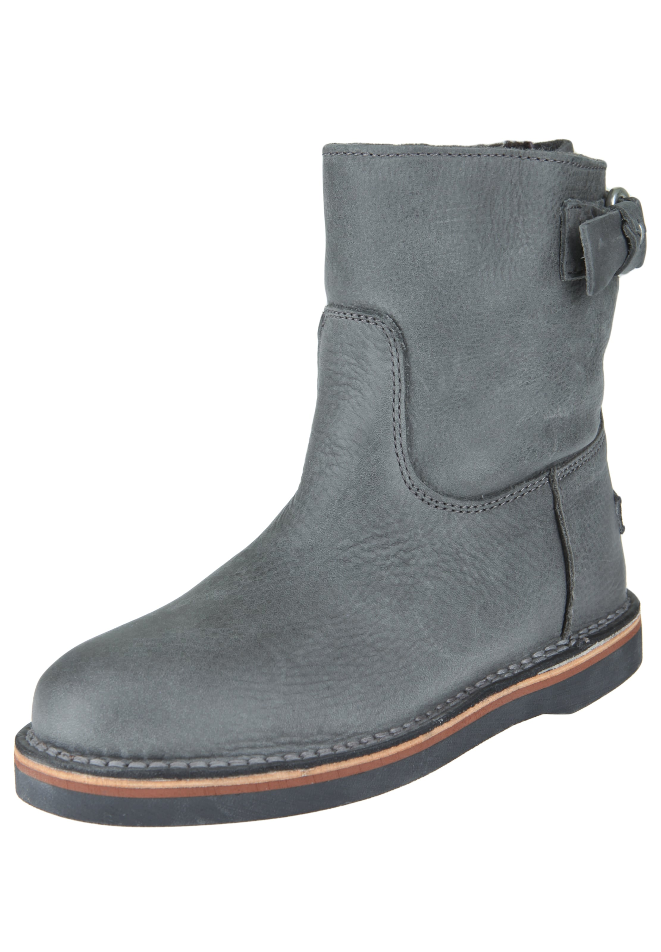 SHABBIES AMSTERDAM Lederstiefelette BUCKLE BOOTY Hohe Qualität