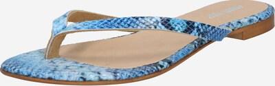 ABOUT YOU Zehentrenner 'Davina' in blau, Produktansicht