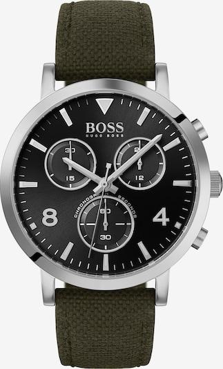 BOSS Uhr in dunkelgrün / silber, Produktansicht