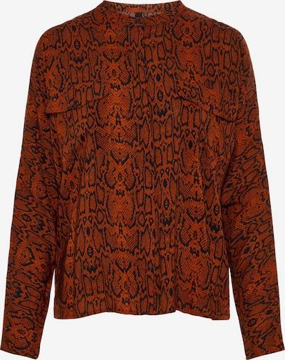 Y.A.S Hemd in rostbraun / schwarz, Produktansicht