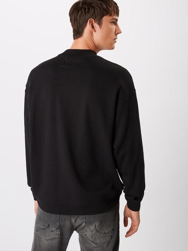 Jeans Calvin Mock 'relaxed Neck' En Noir Sweat Klein shirt 80POwnk