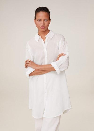 MANGO Hemd 'Longui' in weißmeliert, Modelansicht