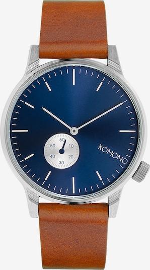 Komono Uhr in nachtblau / braun / silber, Produktansicht