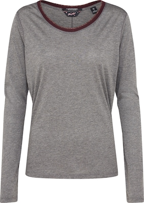 SCOTCH & SODA Koszulka 'Long sleeve tee with lurex rib details'