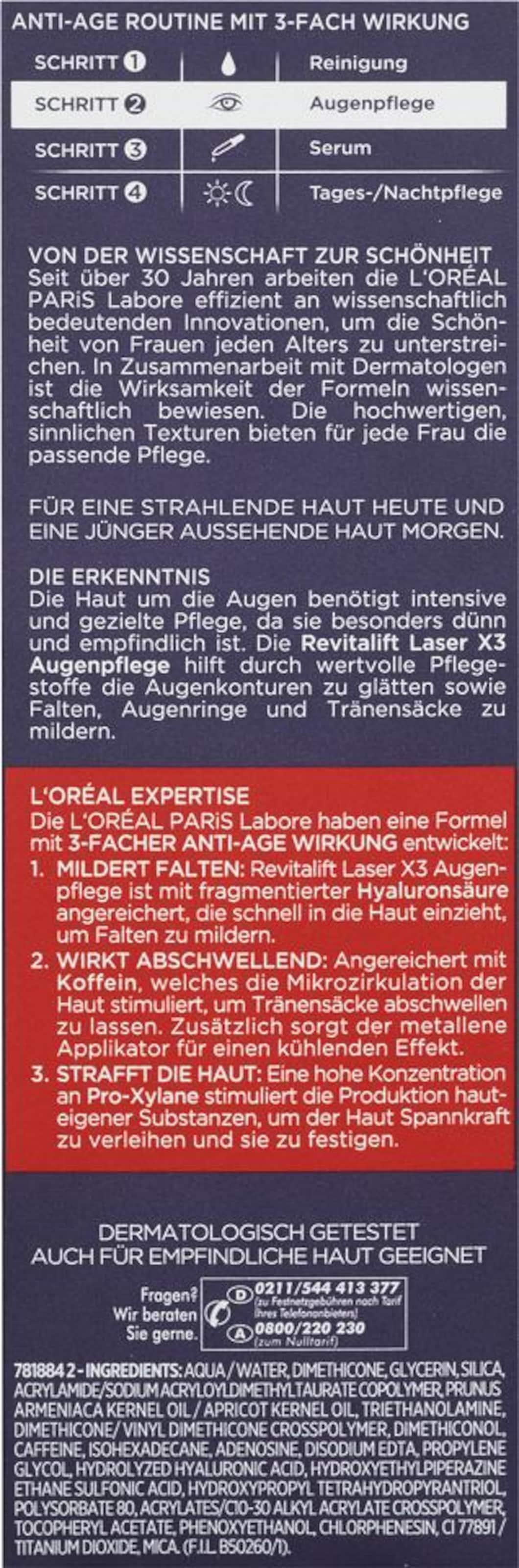 L'oréal Laser Paris Mischfarben X3 'revitalift Augenpflege In Augenpflege' rCxdoeB