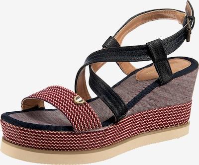 TOM TAILOR Sandalette in nachtblau / rostrot, Produktansicht