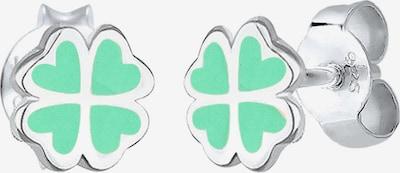 ELLI Ohrringe 'Kleeblatt' in mint / silber, Produktansicht