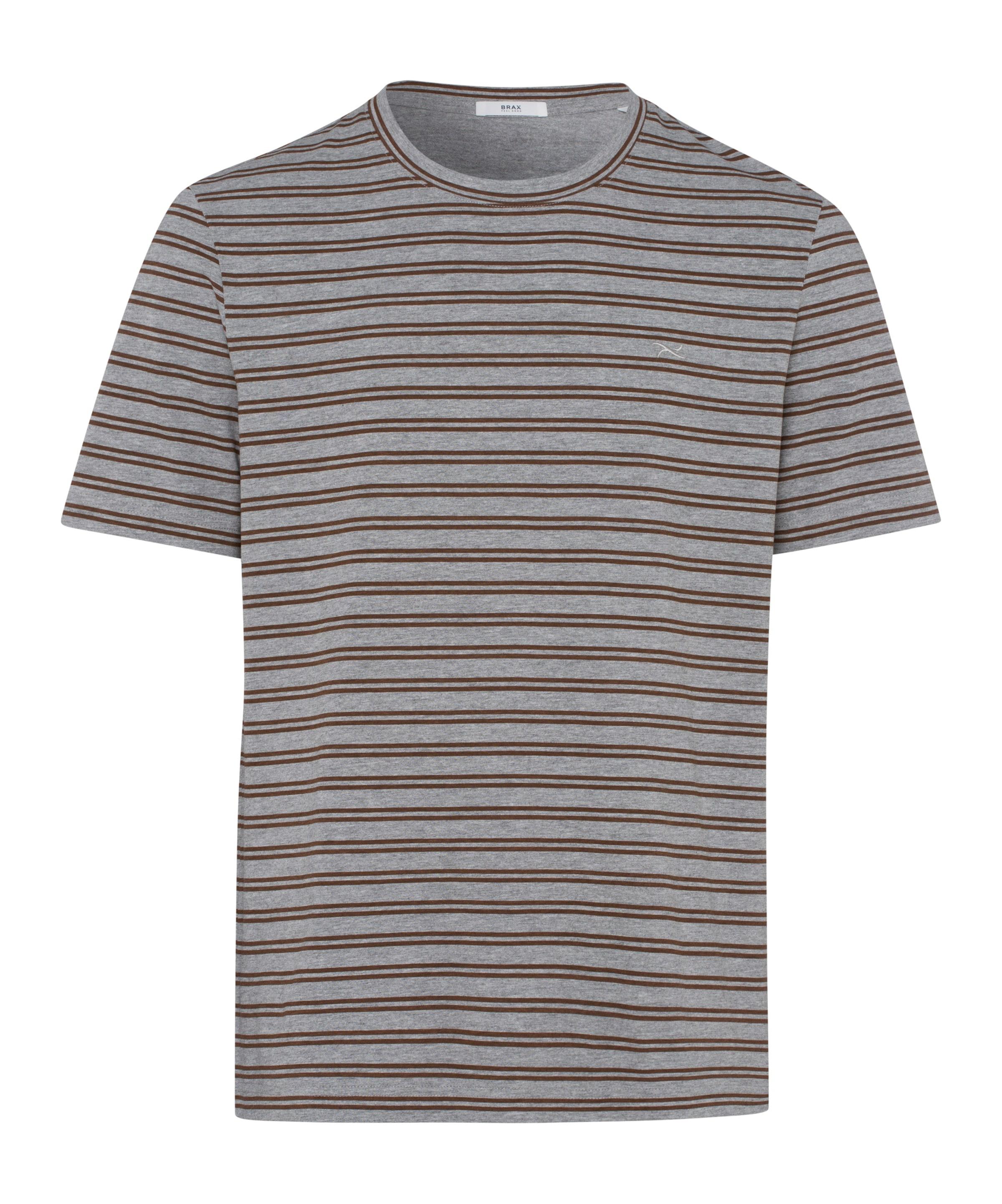 shirt In T 'troy' BraunGrau Brax ZuwkOPXiT
