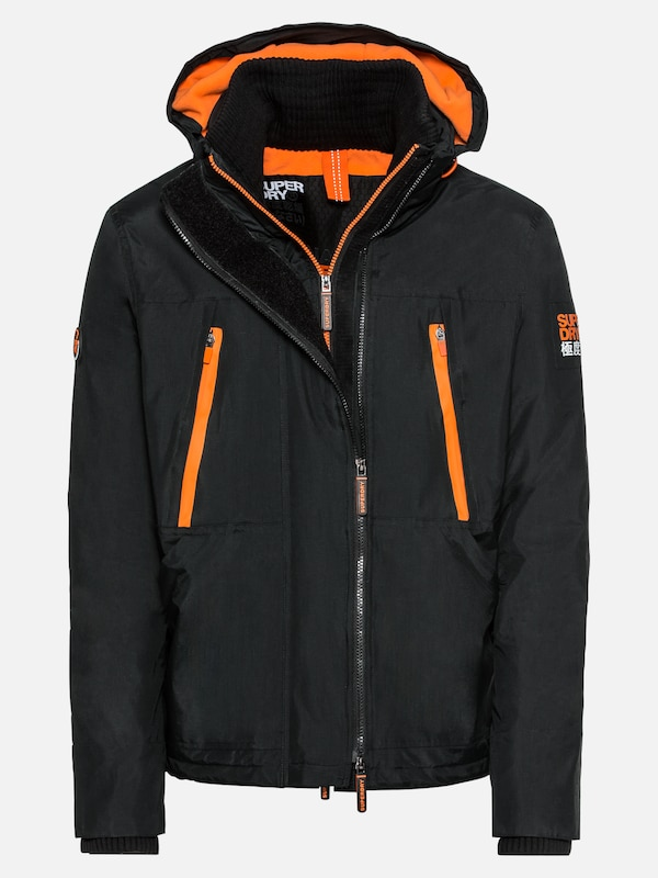 reputable site 5826f 06fec Superdry Jacke 'HOODED POLAR WIND ATTACKER' in orange ...