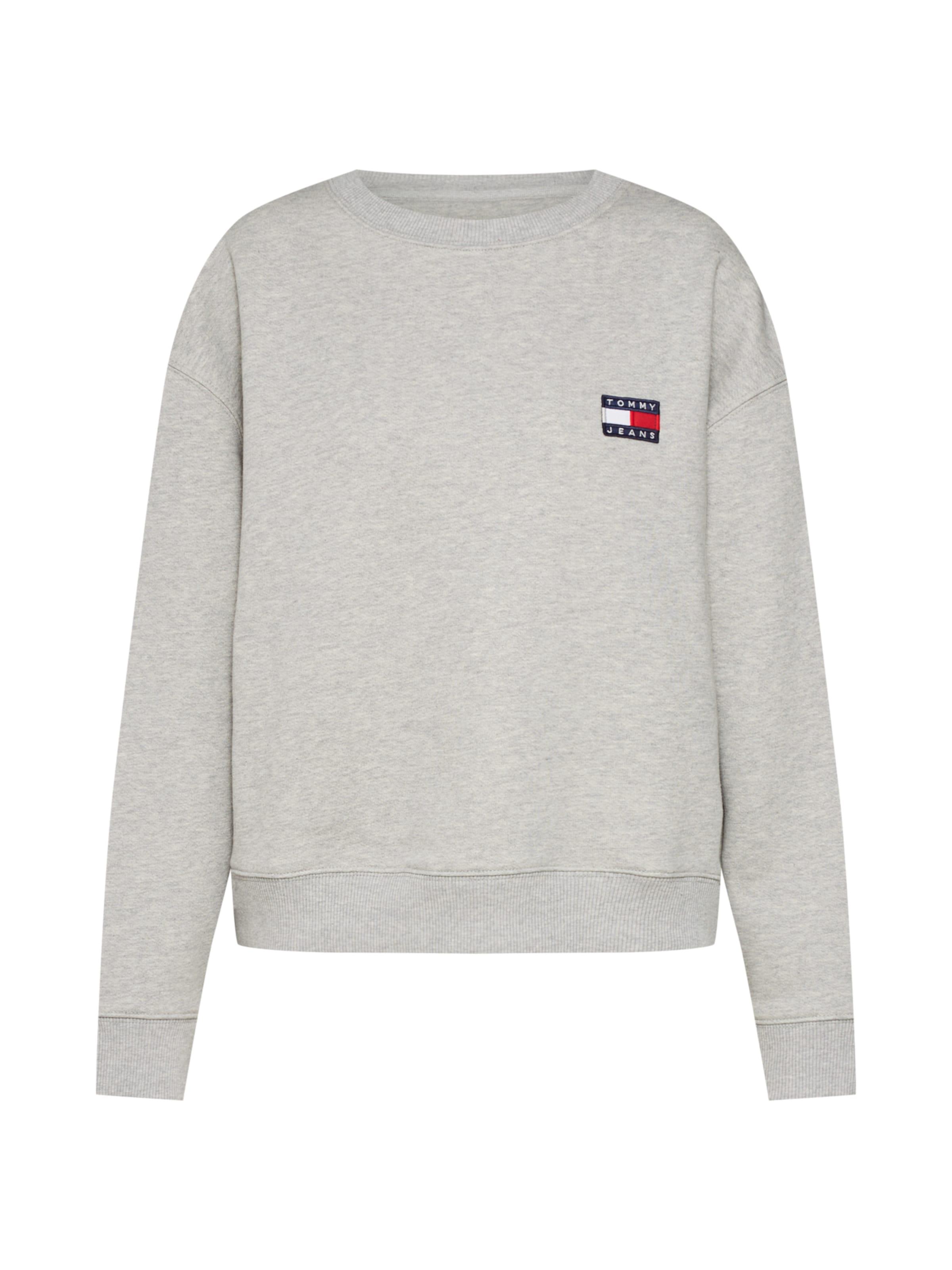 Jeans 'tommy Tommy Badge Crew' Hellgrau Sweatshirt In kZiTXPOu