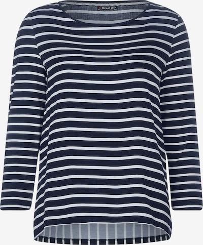 STREET ONE T-shirt 'Helen' en bleu / blanc, Vue avec produit