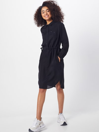 Lee Kleid 'Worker Drapey Dress' in schwarz, Modelansicht