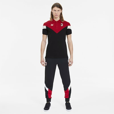 PUMA Shirt 'AC Milan Iconic MCS' in rubinrot / schwarz: Frontalansicht