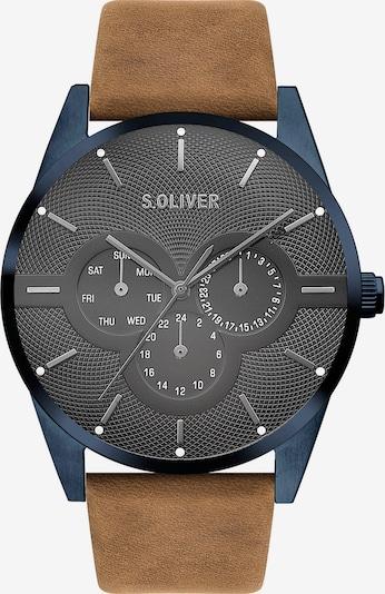 s.Oliver Uhr in marine / braun / schwarz, Produktansicht