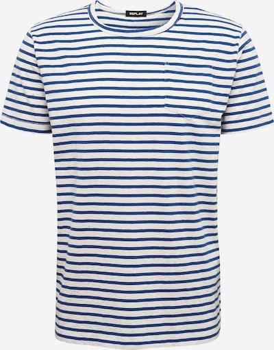 REPLAY Shirt in beige / blau, Produktansicht