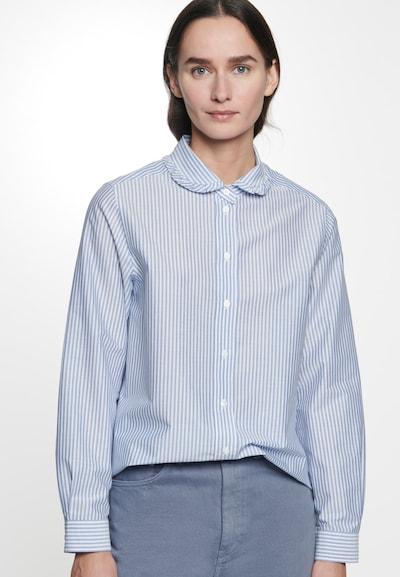 SEIDENSTICKER Bluse 'Schwarze Rose' in hellblau / weiß, Modelansicht
