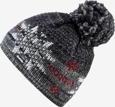 Eisbär Mütze 'Ike' in dunkelgrau / rot / weiß, Produktansicht