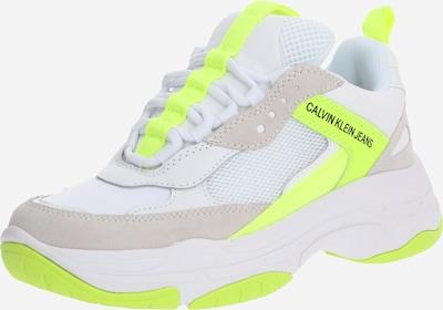 Sneaker low 'MAYA' Calvin Klein Jeans pe galben / alb, Vizualizare produs