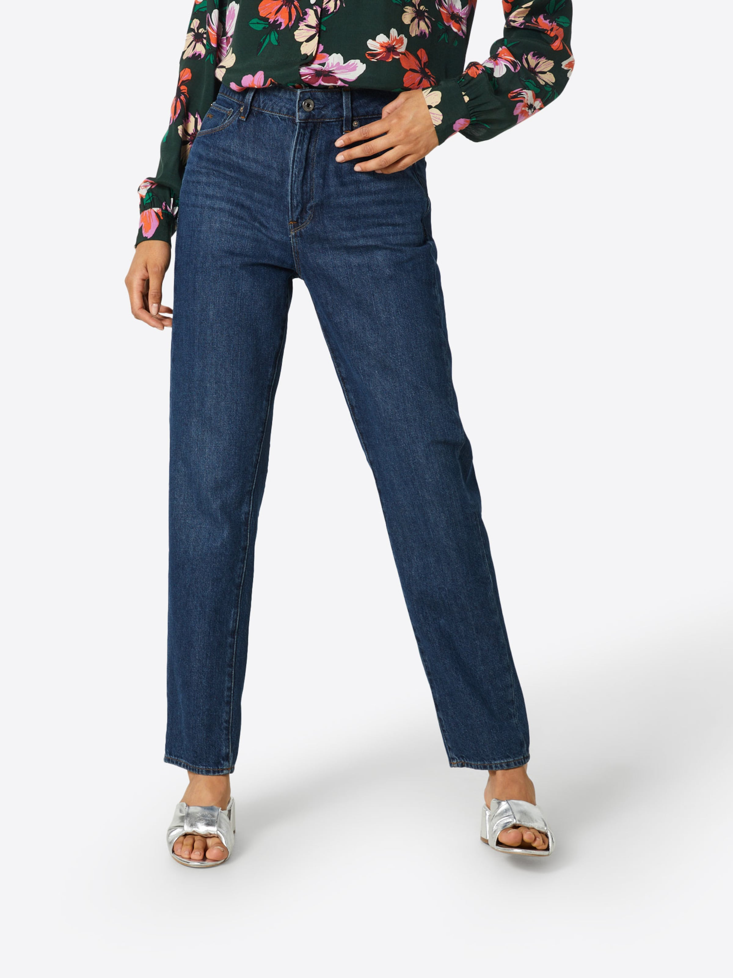 '3301 90's Raw Straight Jeans star Wmn' High Ankle G Blau In 8wmnv0yNPO