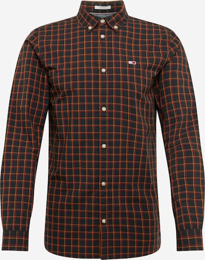 Tommy Jeans Hemd 'Essential Poplin Check' in orange / rot / schwarz, Produktansicht