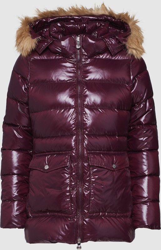 PYRENEX Jacken 'AUTHENTIC JACKET SHINY SYNTHETIC FUR' in aubergine  Bequem und günstig