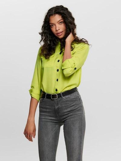 Bluză 'ONLVEGA L/S SHIRT WVN' ONLY pe galben, Vizualizare model