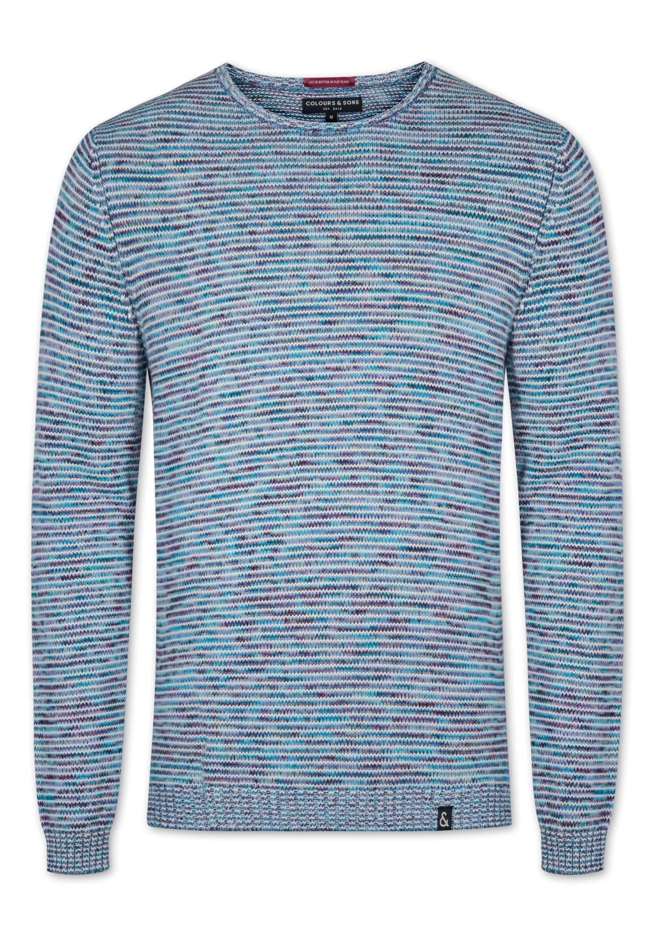 Coloursamp; Himmelblau Sons IndigoRauchblau 'sean' Weiß Pullover In NvwmnO80
