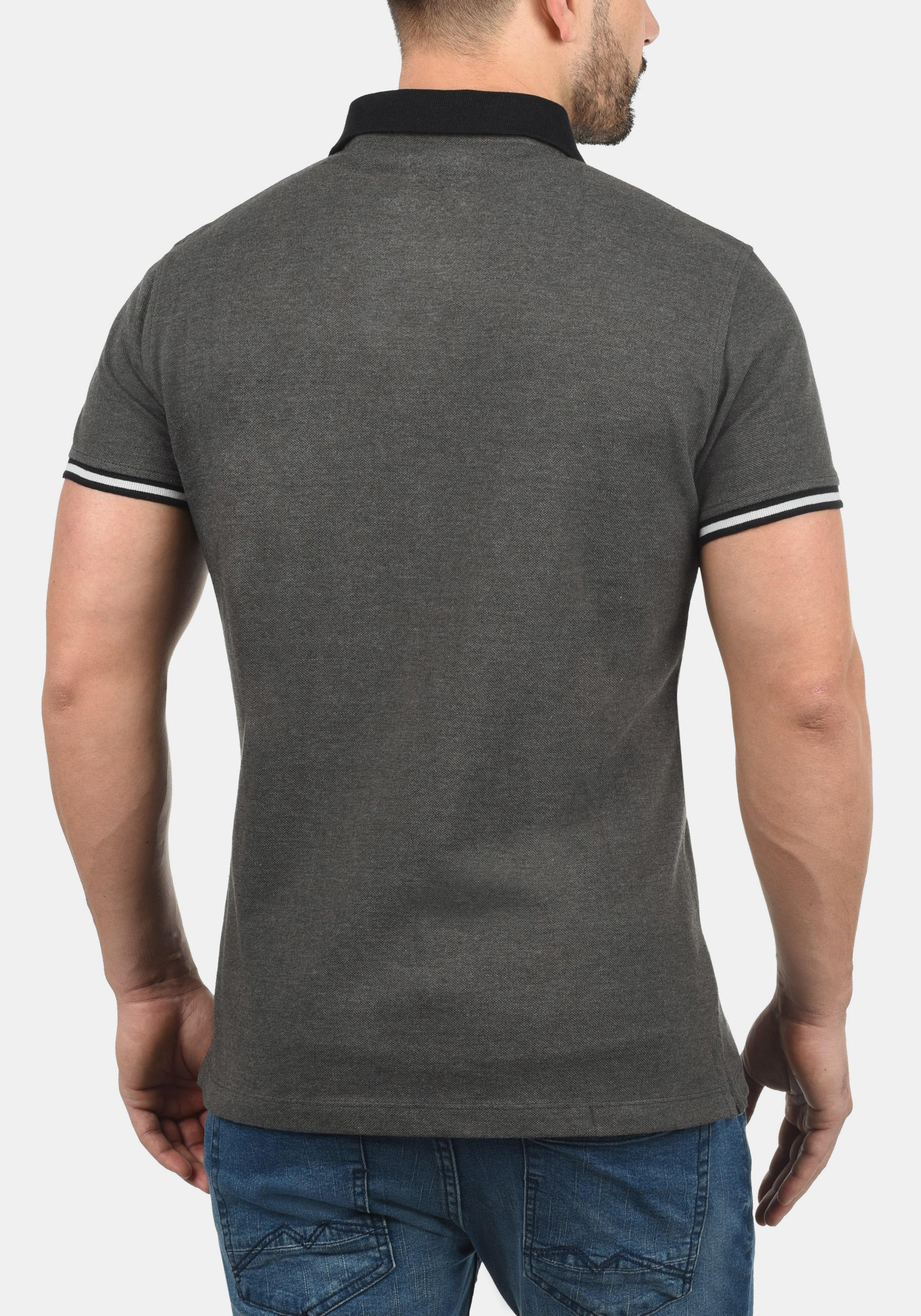 GrauDunkelgrau Blend Blend Poloshirt 'prato' In ChQxrdts