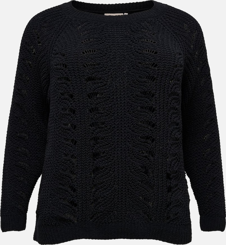 ONLY Carmakoma Pullover 'DINA' in schwarz: Frontalansicht