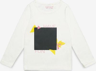 ESPRIT Langarmshirt in gelb / pink / schwarz / weiß, Produktansicht