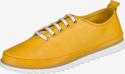 Paul Vesterbro Leder Sneakers in dunkelgelb, Produktansicht