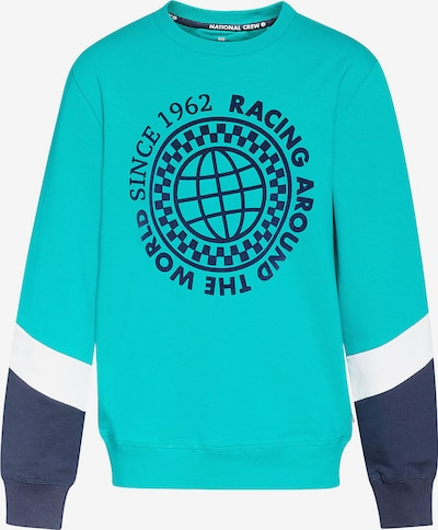 WE Fashion Sweatshirt in türkis / nachtblau / weiß, Produktansicht
