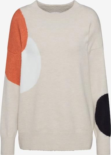 TOM TAILOR Pullover in sand / orange / schwarz / weiß, Produktansicht