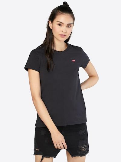 LEVI'S T-Shirt in feuerrot / schwarz / weiß: Frontalansicht