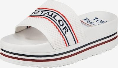 TOM TAILOR Plateau-Pantoletten in weiß, Produktansicht