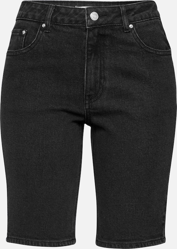 EDITED Jeans 'Oliv' in black denim: Frontalansicht